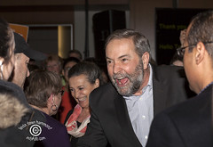 MulcairNDPRallySM20150315_051 (DawnOne) Tags: new party copyright toronto canada tom dawn march metro thomas centre rally 15 catherine linda convention politicians ndp wife leader hammond democratic opposition pinhas 2015 mulcair dawnone indyfoto