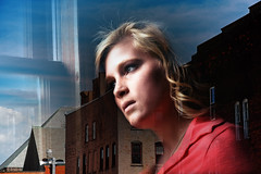 untitled (Geoffrey Coelho Photography) Tags: city portrait urban abandoned girl composite female rural model blended blend windowtown