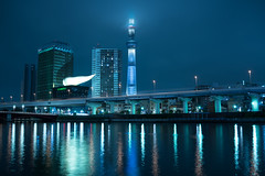 DSC01702 (Zengame) Tags: cloud tower japan architecture night zeiss tokyo cloudy sony illumination landmark illuminated cc creativecommons   rx iki       skytree rx1 komagatabashi   tokyoskytree  rx1r rx1rm2 rx1rmark2