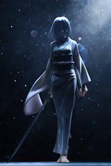 Highlight (Grishnkh) Tags: figure anime girl goodsmilecompany japanese pvc snow bokeh sword katana