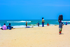 People at Paradise Beach (wandercrumbs) Tags: people chilling paradise beach pondicherry puducherry