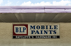 BLP - Mobile Paints - Ratcliffe's Hardware Inc, Camden, Alabama (Tony Webster) Tags: us hardwarestore unitedstates camden alabama broadstreet paintstore blp plantersstreet mobilepaints ratcliffeshardware ratcliffeshardwareinc