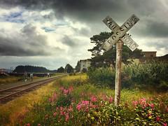 rr crossing, astoria (jody9) Tags: astoria oregon railroadtracks crossing stormy