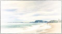 Southern Gold Coast (BAN - photography) Tags: beach shore shoreline cliff headland fisherman buildings sand beachfront postcard d810 cloud sea ocean longexposure