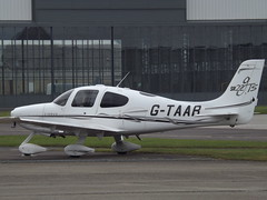 G-TAAB Cirrus SR22 (Aircaft @ Gloucestershire Airport By James) Tags: gloucestershire airport gtaab cirrus sr22 egbj james lloyds