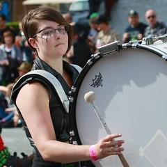 Fremont Solstice 2016  2138 (khaufle) Tags: solstice fremont wa usa marchingband parade drum
