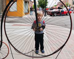 Big Wheel (hz536n/George Thomas) Tags: summer copyright canon alley michigan canon5d upnorth georgie carshow baycity 2016 ef1740mmf4lusm cs5