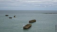 Vestiges du port artificiel ('port Mulberry') d'Arromanches au Cap Manvieux (Basse-Normandie) (2015-09-04 -23) (Cary Greisch) Tags: france calvados fra arromancheslesbains bassenormandie carygreisch capmanvieux