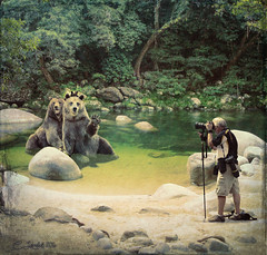 BearyFunny737093 (clabudak) Tags: forest pond funny photographer bears surreal crazygeniuses