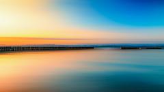 Dbut de journe sur le lac de Neuchtel (MrMyz) Tags: sunset lake nature water canon landscape eos switzerland eau suisse outdoor ciel paysage couleur leverdesoleil exterieur eos5d lacrivire lakeriverwater infinitexposure mrmyz
