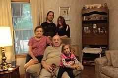 With grandma and grandpa Schrock (jocelyndale) Tags: family tom jocelyn grandparents aenea greatgrandparents schrock grandpaschrock grandmaschrock