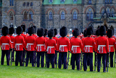 Steady now... It's a mere 32C today. (DHaug) Tags: ceremonialguard ottawa nationscapital parliamenthill ceremony backs bearskinhats xf56mmf12r fujifilm xpro2 july 2016