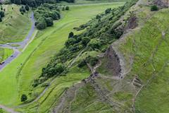 Les Salisbury Crags vus de haut