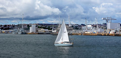 Sailing close to the wind at Devonport (Baz Richardson (now away until 30 July)) Tags: plymouth devon yachts devonport britishnavy rivertamar torpointferry devonportnavalbase