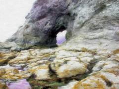 Hole in Wall at Rialto Beach - Painting (Paddrick) Tags: sea art beach digital painting stack rialto holeinthewall paddrick paintograph