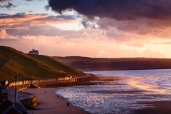 Sunset over the North Sea (petespande) Tags: cliffsofengland northsea magichour unitedkingdom england uk visiting sunset whitby sigma105mm nikond750