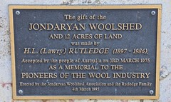 Jondaryan Woolshed plaque (outback traveller) Tags: historic seq