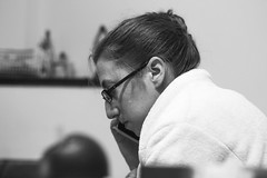 Paola (Alvimann) Tags: woman women mujer mujeres blanco black blancoynegro blackandwhite white negro face cara rostro rostros caras glass glasses lente lentes mouth boca expresion expression expresivo express expressive expresiones expressions 550d 550 eos550d canon550d canoneos550d 50mm 50 ef50mm ef50mmf18 ef50mmf18ii canon50mm canon50mmf18 nose nariz hair pelo peinado hairdress