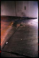 A corner of concrete. (FreezerOfPhotons) Tags: olympus35sp konica160pro expiredfilm homec41 unicolorc41