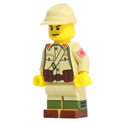 Japenese Soldier (X39BrickCustoms .com) Tags: lego legos minifigures ww2 japenese marine us brickarms m1 pot battle peleliu empire united states