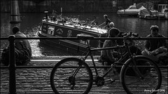 Bristol Harbourside scenes (zolaczakl ( 2 million views, thanks everyone)) Tags: bristol 2016 harbourside photographybyjeremyfennell uk england southwest blackandwhitebristol blackandwhite monochrome mono bicycle nikonafsnikkor24120mmf4gedvrlens nikond90 july