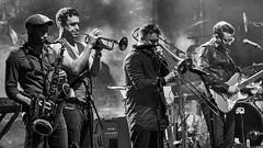 Let the music play (bnq.hendrix) Tags: saxophone trumpet trombon guitar band gig concert blackandwhite monochrome