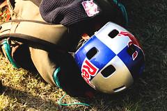 Red Bull (Marin Lonar) Tags: redbull red bull helmet brainsaver bmx extreme sports 50mm 18 canon 600d t3i summer 2016 osijek fise world series croatia bike blue silver