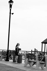 waiting at the playground (mfauscette) Tags: 35mm fsc ishootfilm istillshootfilm kodak kodakportra800 nikon nikonf6 analog asburypark beach blackandwhite boardwalk film filmisnotdead filmshooterscollective jerseyshore playground sand street