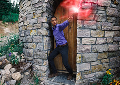 Expelliarmus 22/365 (Carlos Castaeda') Tags: castle roc rock photoshop edit expansion lightroom presets colors red purple vsco film dark art spell harry potter hogwarts explore selfportrait wizard wand lighting hagrid cabin door