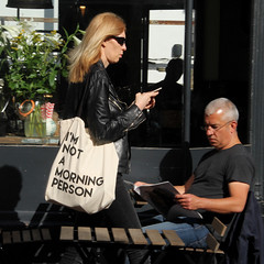taken in the afternoon (likrwy) Tags: man woman tote bag brighton street