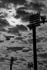 clouds-on-the-stadium_22263126882_o (tosco.david) Tags: blackwhite d76 fa31 film kentmere kentmere100 kodak pz1p pentax pilar z1p zaragoza filmsnotdead