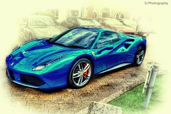 Mean Machine (SteveJ442) Tags: ferrari car automobile motorcar sportscar supercar transport vehicle blue wheels nikon ferrari488gtb ferrari488