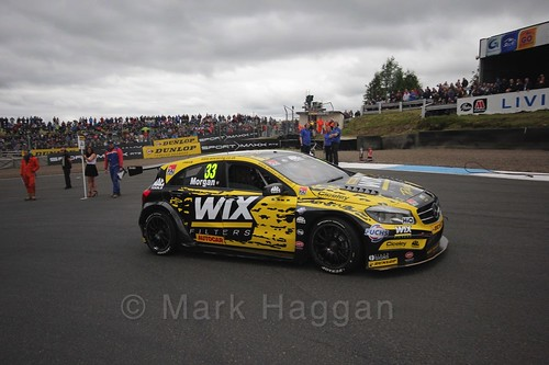 Adam Morgan on the grid during the BTCC Knockhill Weekend 2016