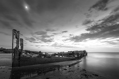 Reclaimed (Jason Gambone) Tags: jasongambonecom sand jasongambone delaware newjersey 2016 clouds delawarebay beach nj august sunset shipwreck delawareriver coast coastal ship
