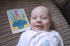 Twelve Weeks Old (kellyhackney1) Tags: tweleveweeksold twelve piccy baby babylove myworld preciousmoments milestonecards growing