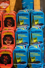 Schnheit der Sardinen (Seahorse-Cologne) Tags: tretat dpartementseinemaritime regionnormandie normandie sardinen konserven dosen sardines