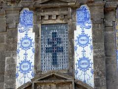 Azulejos detail (Linda DV) Tags: lindadevolder panasonic geotagged travel portugal porto europe 2016 citytrip oporto ribbet azulejos tiles ildefonso