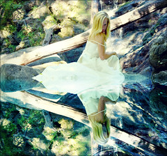 """i am"" pool (zentrinity) Tags: waterfall wedding dress refelection ramapo zentrinity self love depth inner being"