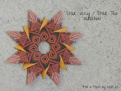 Stern Vicky and Tico Star Variation (backside) (esli24) Tags: origamistar star stern origamistern weihnachten christmas ilsez evanzodl mariasinayskaya carmensprung papierstern juliaschönhuber
