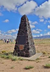 TrinitySiteNHL- Obelisk at Ground Zero (Wanderlust Dreamer) Tags: newmexico whitesandsmissle trinitytestsitenewmexico atomicbomb firstatomicbombtest trinitysitenationalhistoricallandmark
