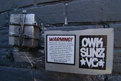 Take Warning!!! (battlebran) Tags: sticker hilarious warning toronto takeheed