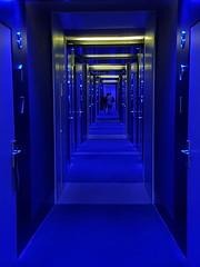 Barcelona, Hotel Corridor (gerard eder) Tags: architecture arquitectura architektur hotel hotelcorridor blue lightening interior hotelinterior barcelona
