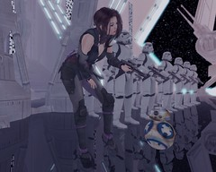 BB-8... You are MINE... (kokonattsu.kyandi) Tags: star wars bb8 dark side queen amidala leia princess rei disney stormtrooper storm trooper darth vader luke skywalker secondlife second life ninja obi wan kenobi sith jedi