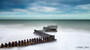 Milky Sea Defences (TP DK) Tags: leefilters zigzag littlestopper windturbine 12ndhardgrad sea sand offshore defences groins milkywater slow moodysky caisteronsea england unitedkingdom gb