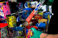 Mixing (Always Hand Paint) Tags: puma pumamixing kristalindahl mixing
