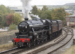 45212 Keighley Curve 23-10-16 (prof@worthvalley) Tags: all types transport uk steam locomotive railway railroad kwvr keighley worth valley 45212 black 5