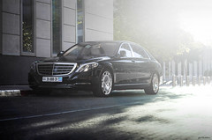 Maybach. (Gal cho photography) Tags: mercedes mercedesbenz benz black s600 maybach vlack color street cool sun flare sunset amazing rare love gal cho chobotaro photo photography photograph photographer israel telaviv canon 650d 50mm 18 special exotic road best world german car cars automotive