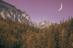 Hoodieseason (Carina Aurora in Wonderland) Tags: moon stars forest woods landscape mountains nature alone silence canon vsco girl wanderlust travel explore