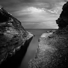 Confined Outlook (JasonBeaven) Tags: longexposure blackandwhite seascape catherinehillbay centralcoast nsw australia print photo photographer jasonbeaven