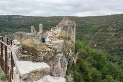 The Information Board (Shastajak) Tags: medieval castle chteau midipyrnes tarn southwestfrance walls